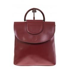 На фото 2 - Бордовый рюкзак – трансформер из натуральной кожи 8892