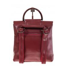 На фото 3 - Бордовый рюкзак – трансформер из натуральной кожи 8892