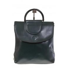 На фото 2 - Темно-зеленый рюкзак – трансформер из натуральной кожи 8892