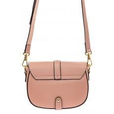 На фото 2 - Сумка-малышка saddle bag из натуральной кожи, цвет розовый