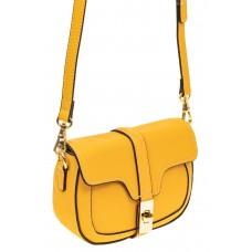 На фото 1 - Сумка-малышка saddle bag из натуральной кожи, цвет манго