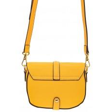 На фото 2 - Сумка-малышка saddle bag из натуральной кожи, цвет манго