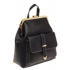 На фото 1 - Черный рюкзачок с рамочным замком 8915