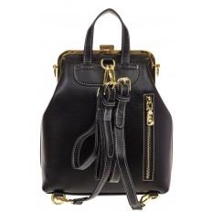 На фото 3 - Черный рюкзачок с рамочным замком 8915
