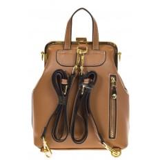 На фото 3 - Бежевый рюкзачок с рамочным замком 8915
