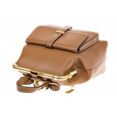 На фото 4 - Бежевый рюкзачок с рамочным замком 8915