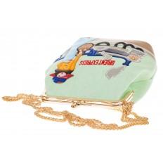 На фото 4 - Frame bag из из эко-кожи, основной цвет – фисташковый