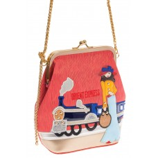 На фото Frame bag для женщин, цвет основы – красный, материал – эко-кожа, купить оптом в магазине Грета