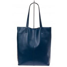 На фото 3 - Сумка женская – мешок из кожи, цвет синий
