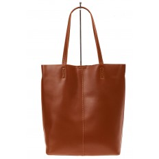 На фото 3 - Сумка женская – мешок из кожи, цвет рыжий