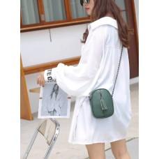 На фото 1 - Сумочка кросс-боди женская из натуральной кожи, цвет зеленый