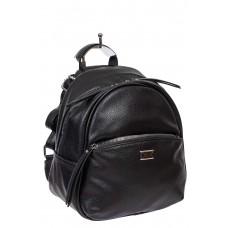 На фото 1 - Женский чёрный рюкзак-трансформер из искусственной кожи