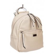 На фото 1 - Женский кремовый рюкзак-трансформер из искусственной кожи