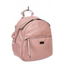 На фото 1 - Женский розовый рюкзак-трансформер из искусственной кожи