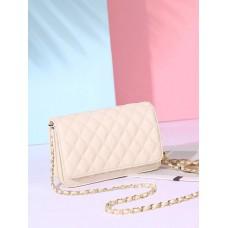 На фото 1 - Женская сумка кросс-боди из натуральной кожи, цвет белый