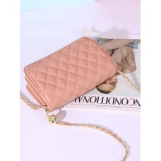 На фото 1 - Женская сумка кросс-боди из натуральной кожи, цвет розовый