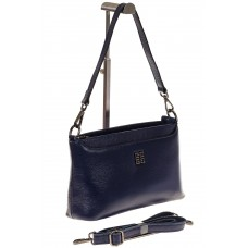 на фото Shoulder bag из натуральной кожи синего цвета 8979MK5