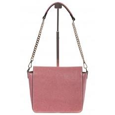 На фото 3 - Saddle bag из натуральной кожи цвета пудра 8987MK5