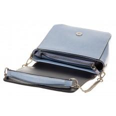 На фото 4 - Saddle bag из натуральной кожи голубого цвета 8987MK5