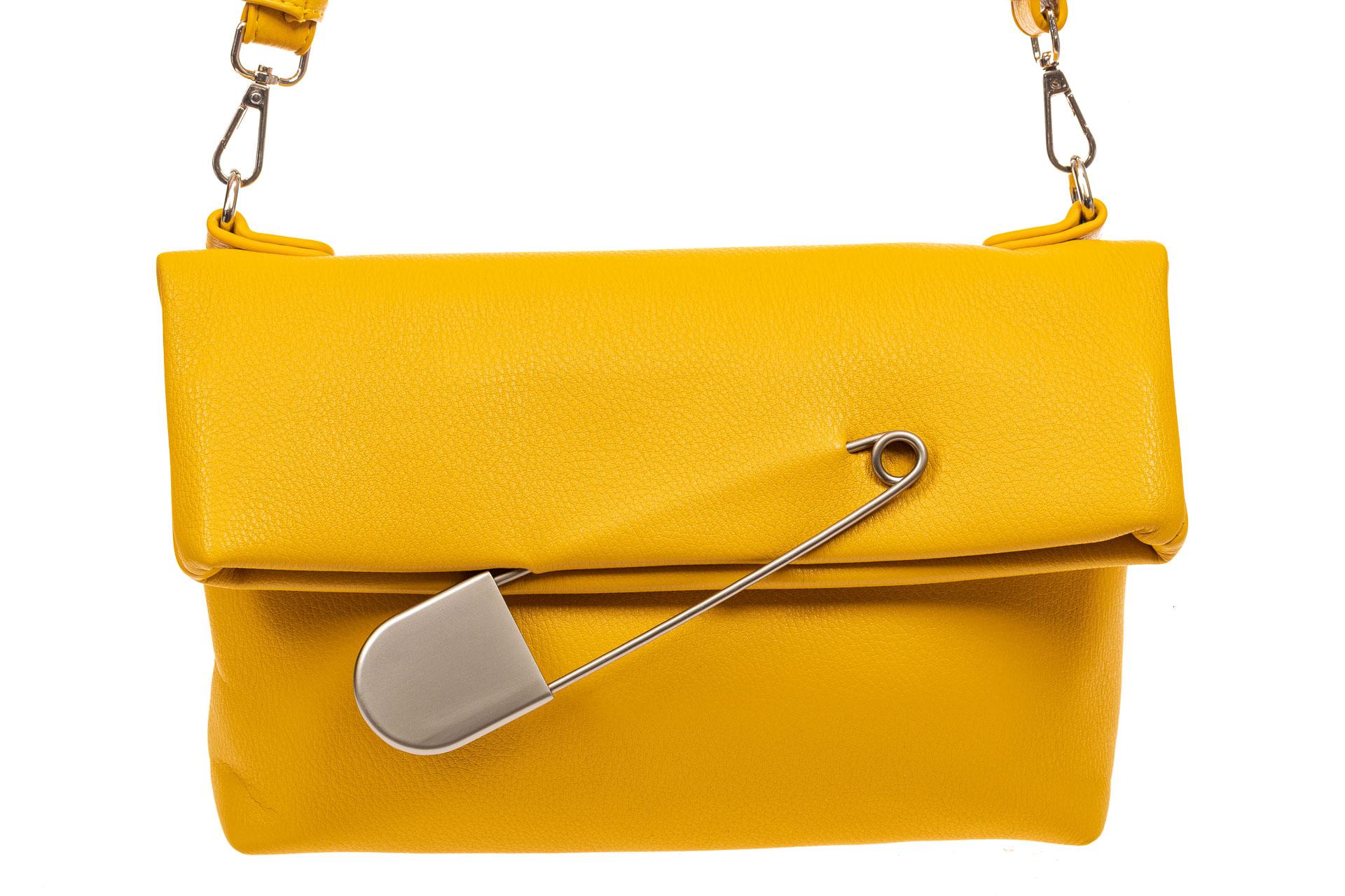 На фото 3 - Сумка-клатч женский из искусственной кожи, цвет желтый