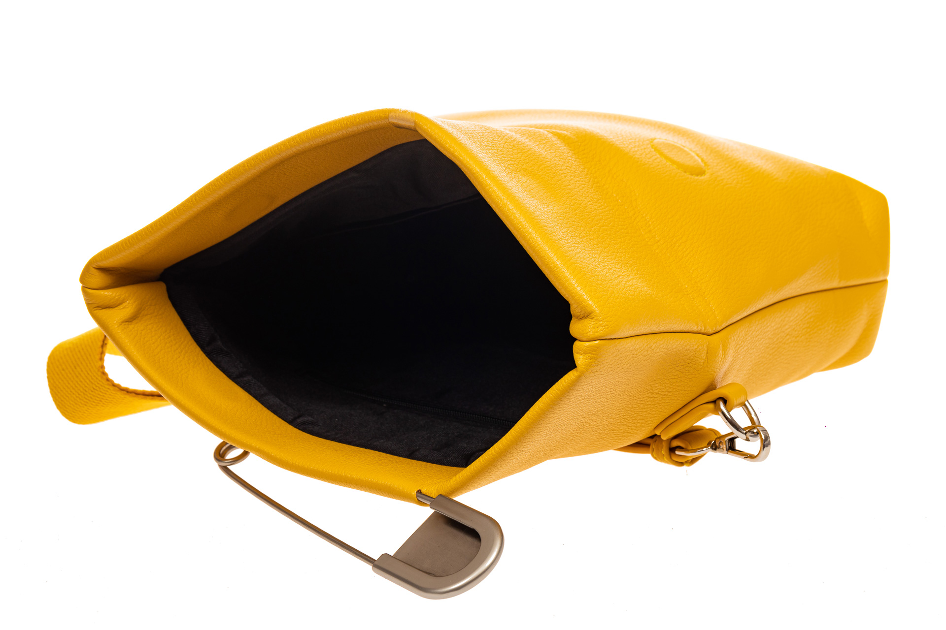 На фото 4 - Сумка-клатч женский из искусственной кожи, цвет желтый