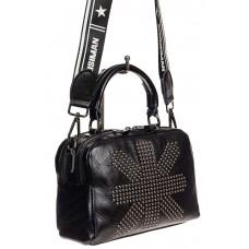На фото 1 - Молодёжная сумка из искусственной кожи, цвет чёрный