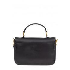 На фото 3 - Женская сумка-почтальонка из натуральной кожи, цвет чёрный