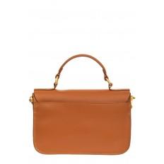 На фото 3 - Женская сумка-почтальонка из натуральной кожи, цвет рыжий