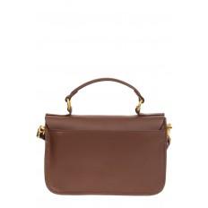 На фото 3 - Женская сумка-почтальонка из натуральной кожи, цвет коричневый