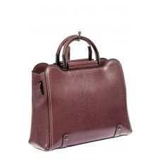 На фото 1 - Красивая женская сумка из натуральной кожи, цвет пудра
