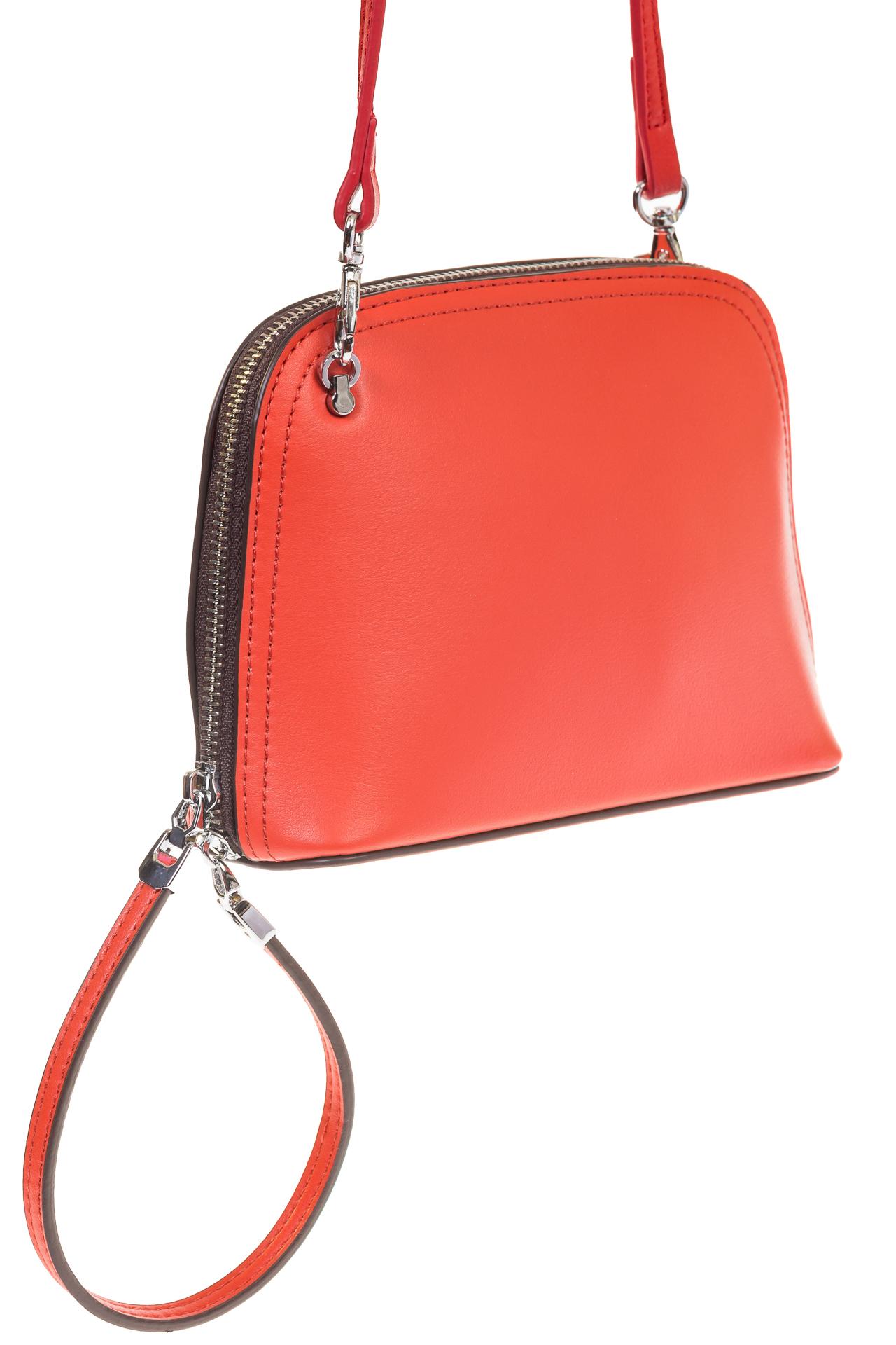 На фото Wristlet bag для женщин, цвет – красный, материал – натуральная кожа, купить оптом в магазине Грета