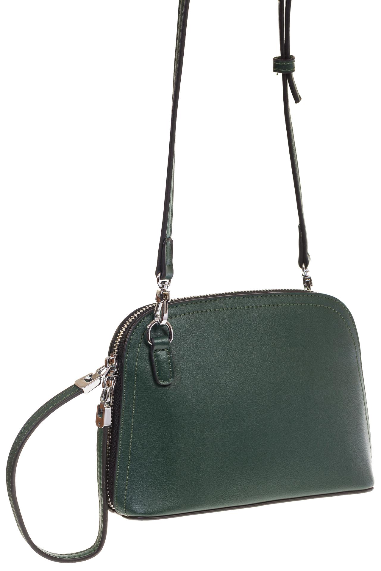 На фото Wristlet bag для женщин, цвет – зеленый, материал – натуральная кожа, купить оптом в магазине Грета