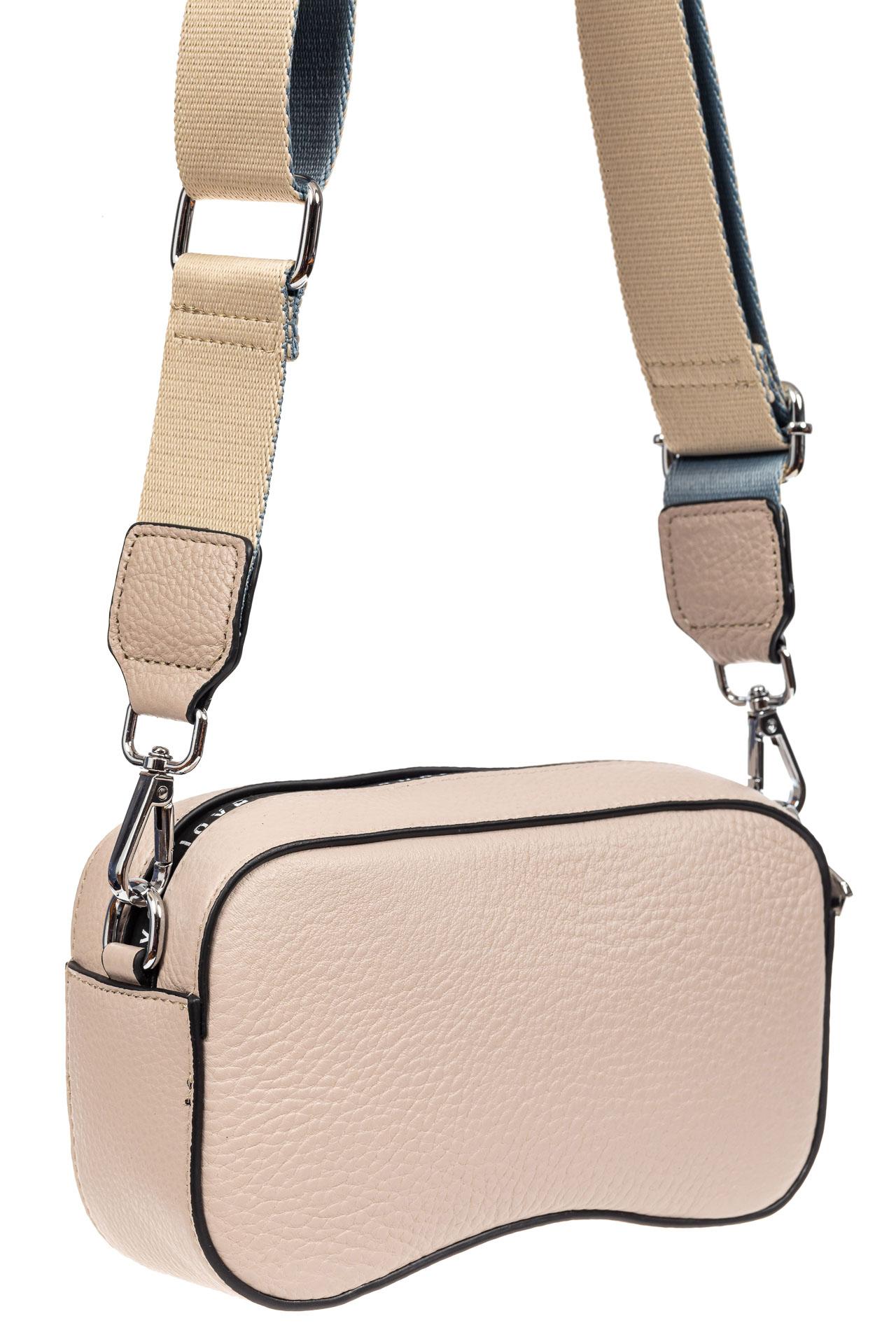 Маленькая наплечная сумка из кожи, цвет розовый9026NK0420/16