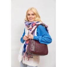 На фото 1 - Женская сумка хобо из искусственной кожи, цвет бежевый