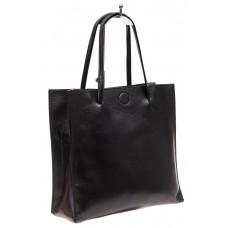 На фото 1 - Женская сумка-мешок из натуральной кожи, цв...