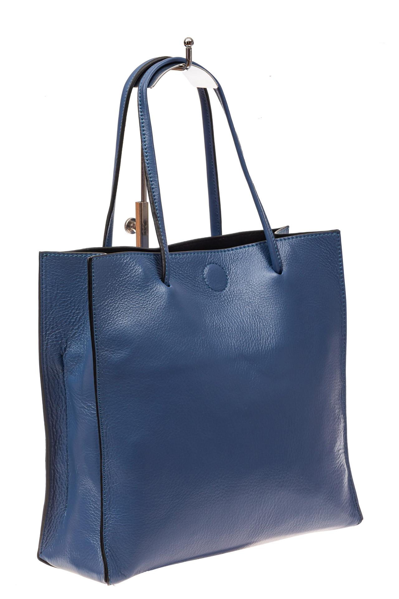 Женская сумка-мешок из натуральной кожи, цвет голубой9029NK1019/18