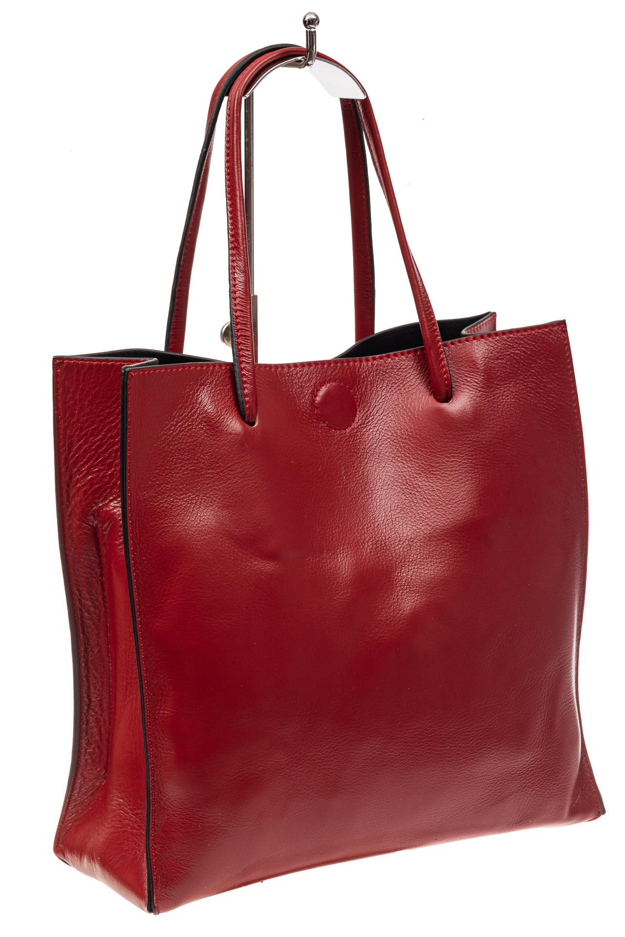 Женская сумка-мешок из натуральной кожи, цвет красный9029NK1019/3