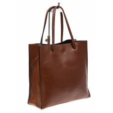 На фото 1 - Женская сумка-мешок из натуральной кожи, цвет рыжий