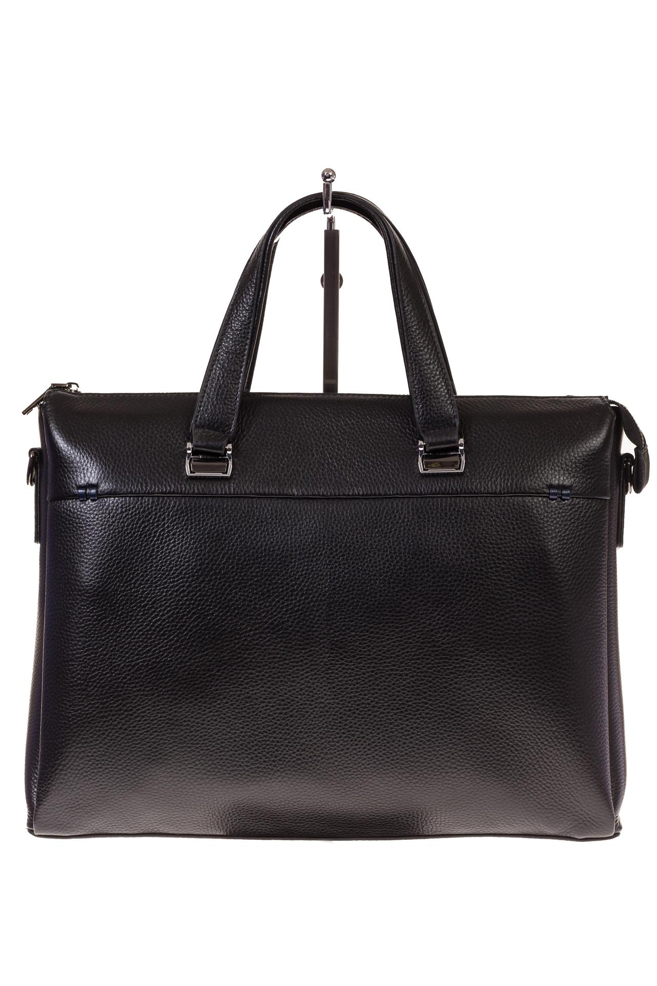 На фото 2 - Строгий портфель из натуральной кожи