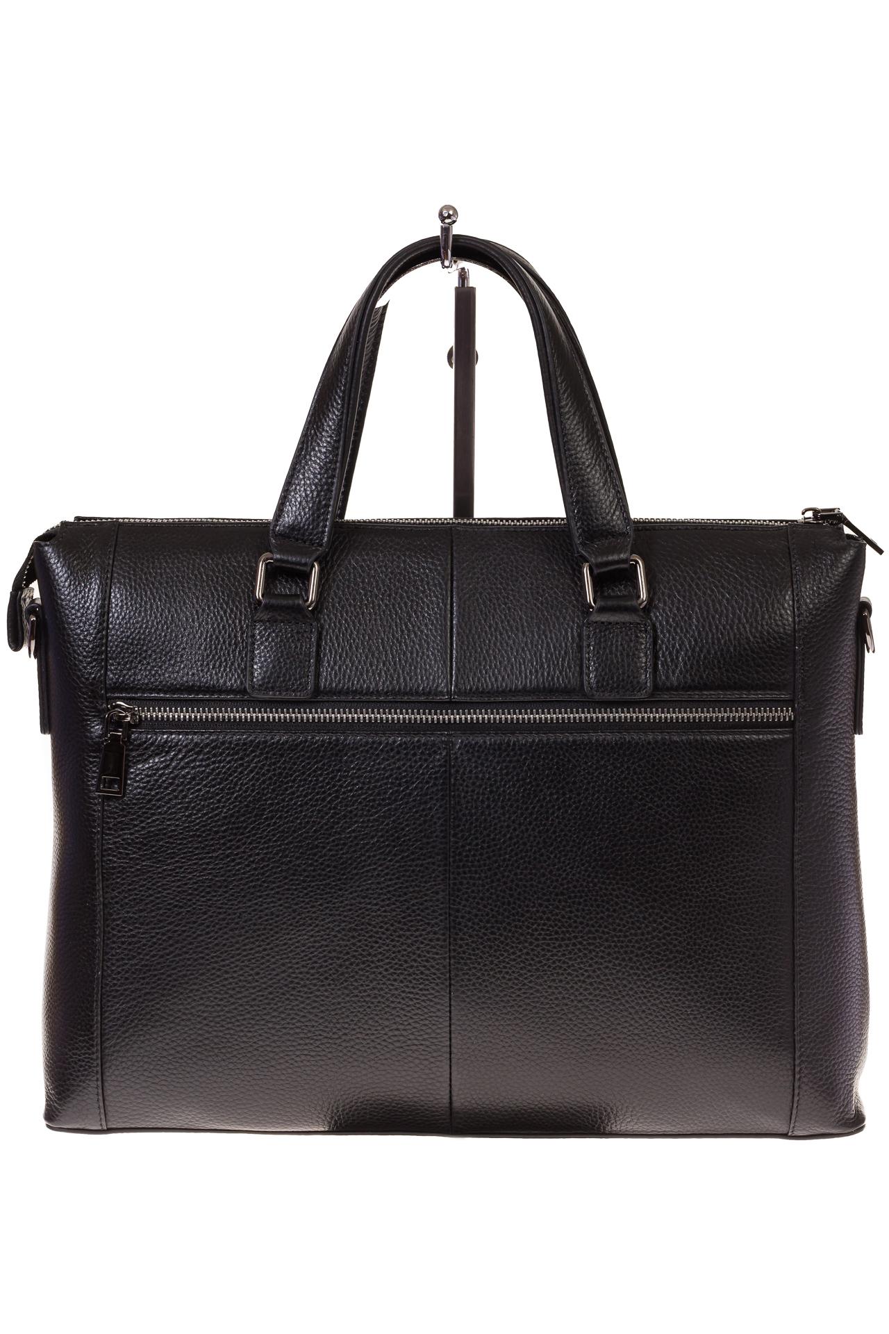 На фото 3 - Строгий портфель из натуральной кожи