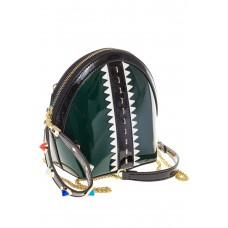 Для оптовых покупателей-лаковая кросс-боди изумрудного цвета 9063