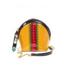 На фото 2 - Лаковая кросс-боди желтого цвета 9063