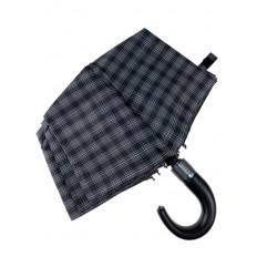 На фото 4 - Мужской зонт-автомат с клетчатым принтом, цвет чёрный