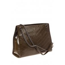 На фото 1 - Стеганая сумка женская из натуральной кожи,...
