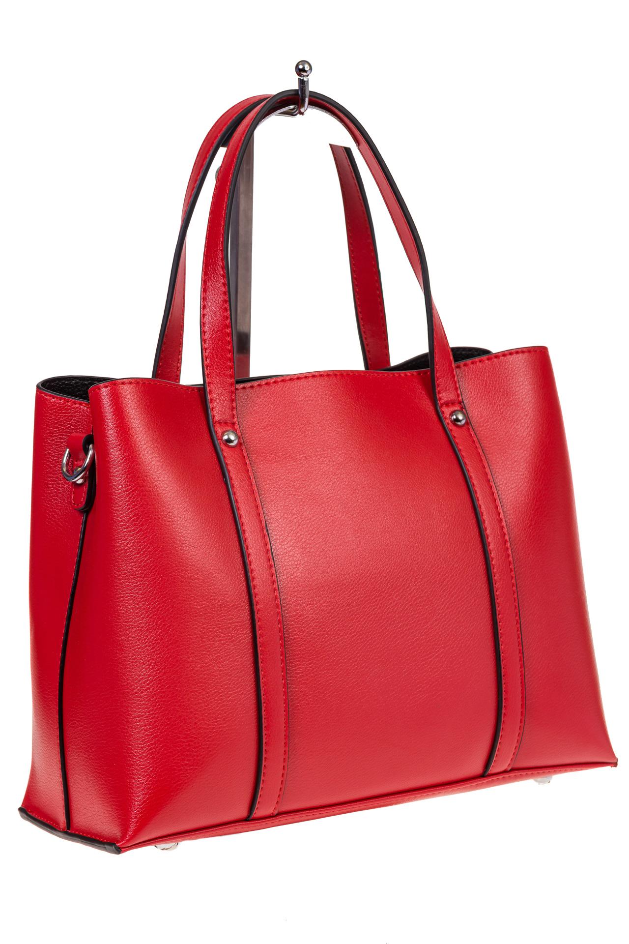 Женская сумка из натуральной кожи красного цвета, стильный тоут для оптовых клиентов
