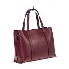 Женская сумка из натуральной кожи – Тоут бордового цвета, фото