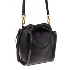 На фото 1 - Сумка женская торба из натуральной кожи, цвет черный