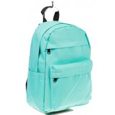 На фото простой рюкзак, цвет – голубой, материал – текстиль, купить оптом в магазине Грета