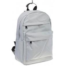 На фото простой рюкзак, цвет – белый, материал – текстиль, купить оптом в магазине Грета