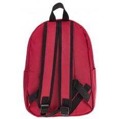 На фото 3 - Простой рюкзак из текстиля, цвет – красный